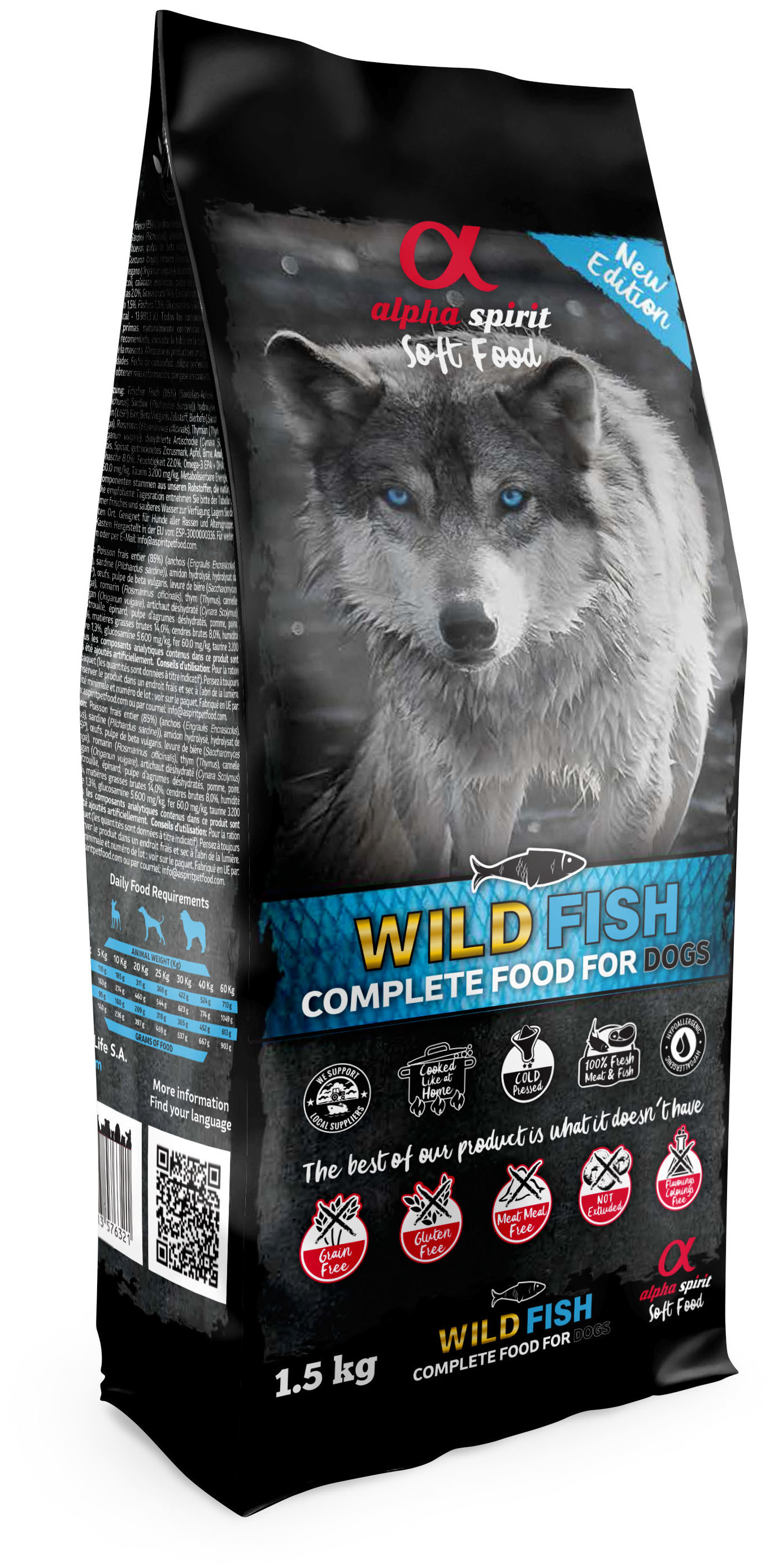 alpha spirit Dog Complete Food Wild Fish 1,5 kg