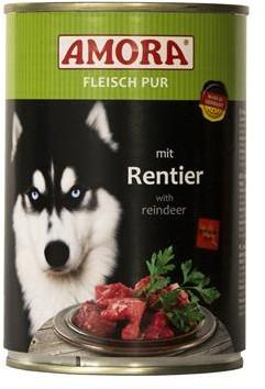 AMORA Dog Fleisch pur getreidefrei Rentier 6x 800g