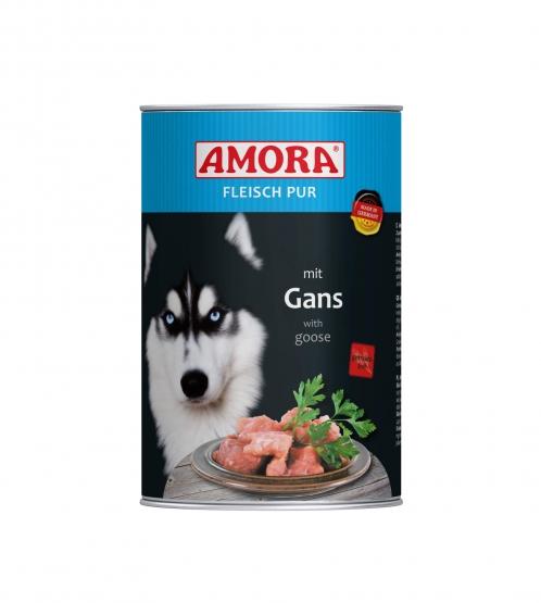 AMORA Dog Fleisch Pur getreidefrei Gans 6x400g