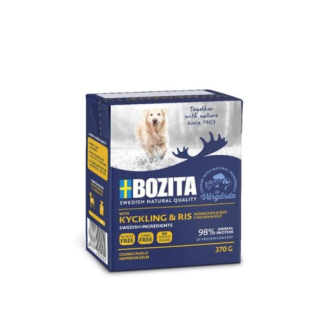 Bozita Naturals Happen in Gelee Hühnchen & Reis 370g (16 Pack)