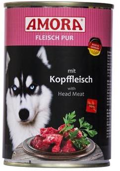 AMORA Dog Fleisch pur getreidefrei Kopffleisch 6x400g