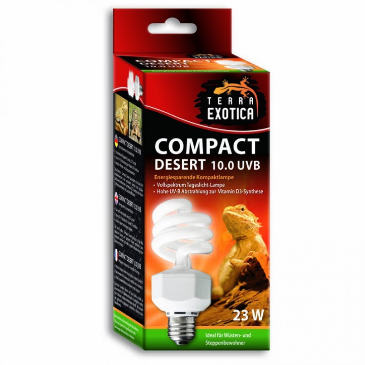 Compact Desert 10.0 UVB 23Watt - Energiesparende Kompaktlampe