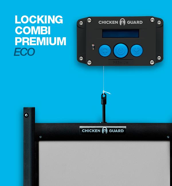 ChickenGuard © Premium - ECO, automatische Steuerung für Hühnerklappen - Combi - mit Door Kit