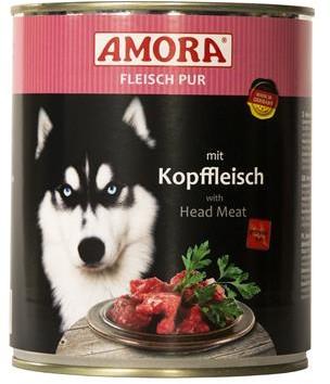 AMORA Dog Fleisch pur getreidefrei Kopffleisch 6x800g