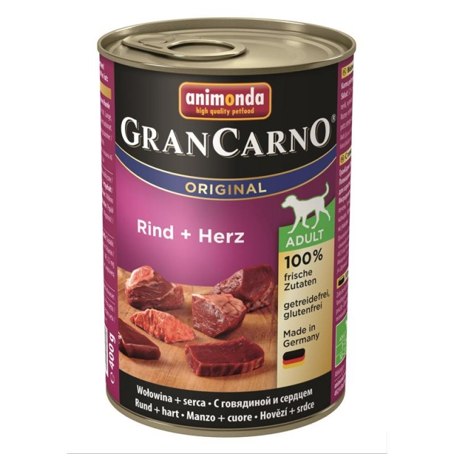 Animonda GranCarno Adult Rind & Herz 400g( 6 Dosen )