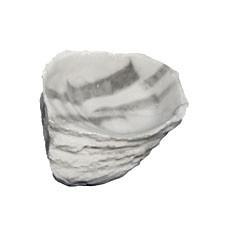 Eckwasserschale small - granite