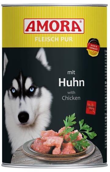 AMORA Dog Fleisch Pur getreidefrei Huhn 6x400g