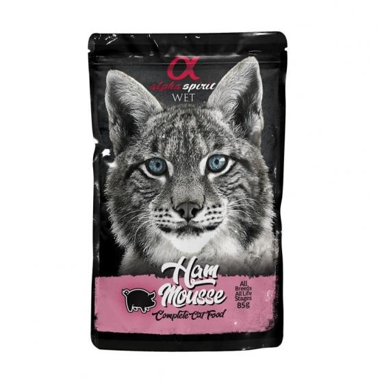 alpha spirit Cat Pouch Ham Mousse 24x 85g