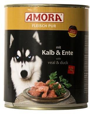 AMORA Dog Fleisch pur getreidefrei Kalb & Ente 6x800g