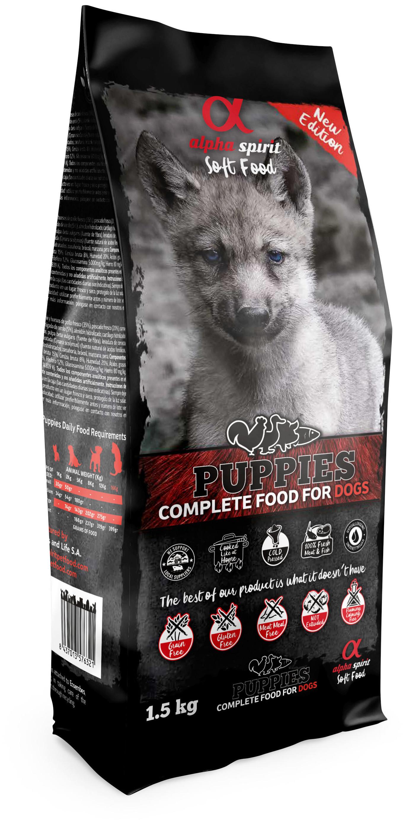 alpha spirit Dog Complete Food Puppies 1,5 kg