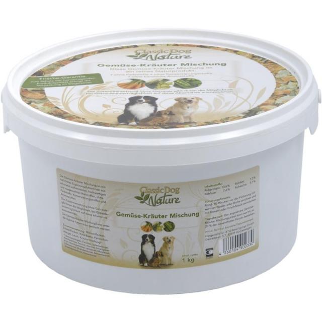 Classic Dog Nature Gemüse-Kräuter Mischung 1kg Eimer