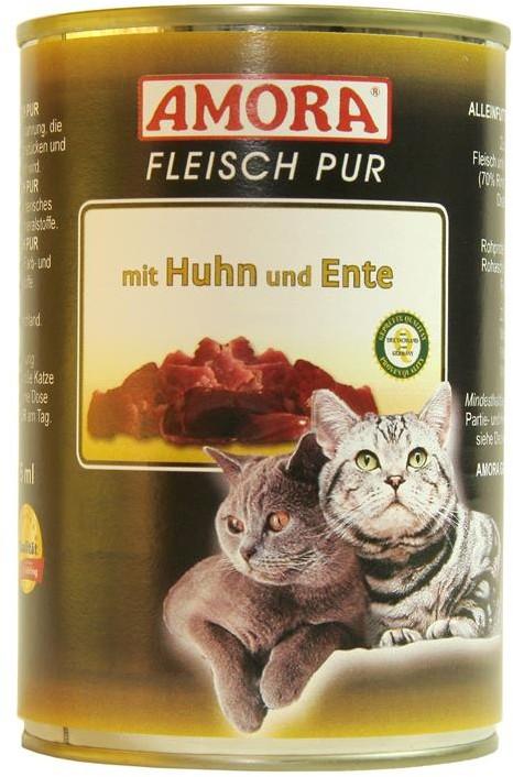 AMORA Cat Fleisch pur mit Huhn & Ente 6x 400g
