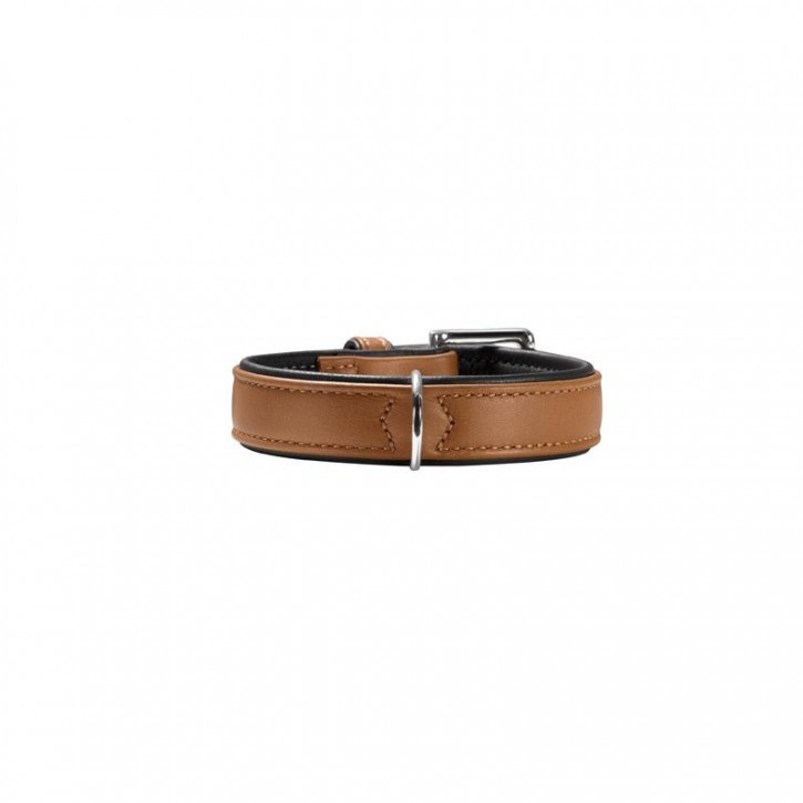 Hunter Halsband Canadian 40 cognac/schwarz 29-35 cm / 18 mm