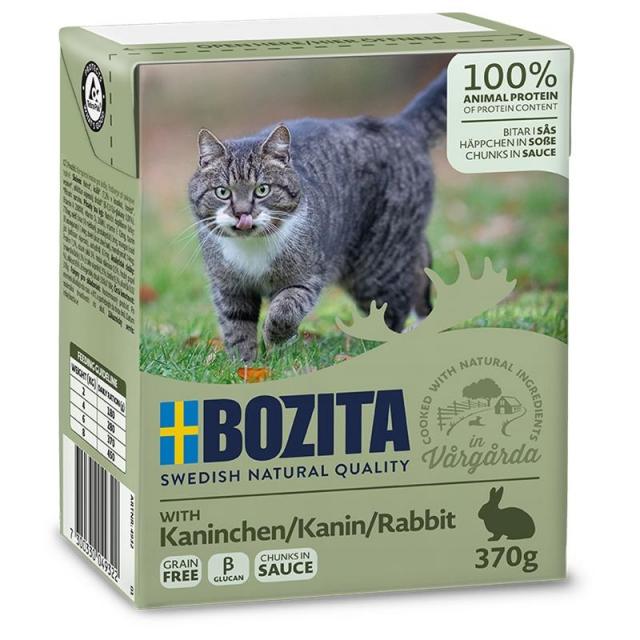 Bozita Häppchen  in Soße Kaninchen  (16 x 370g) Sparpaket