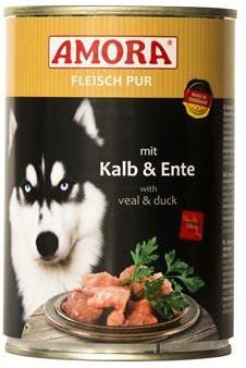 AMORA Dog Fleisch pur getreidefrei Kalb & Ente 6x400g