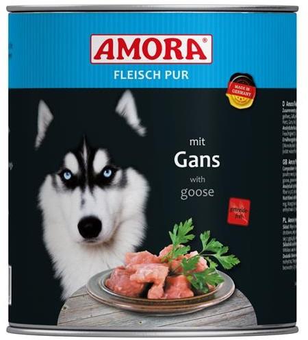 AMORA Dog Fleisch Pur getreidefrei Gans  6x800g