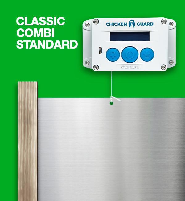 ChickenGuard © Standard, automatische Steurung für Hühnerklappen - Combi - mit Classic Door Kit