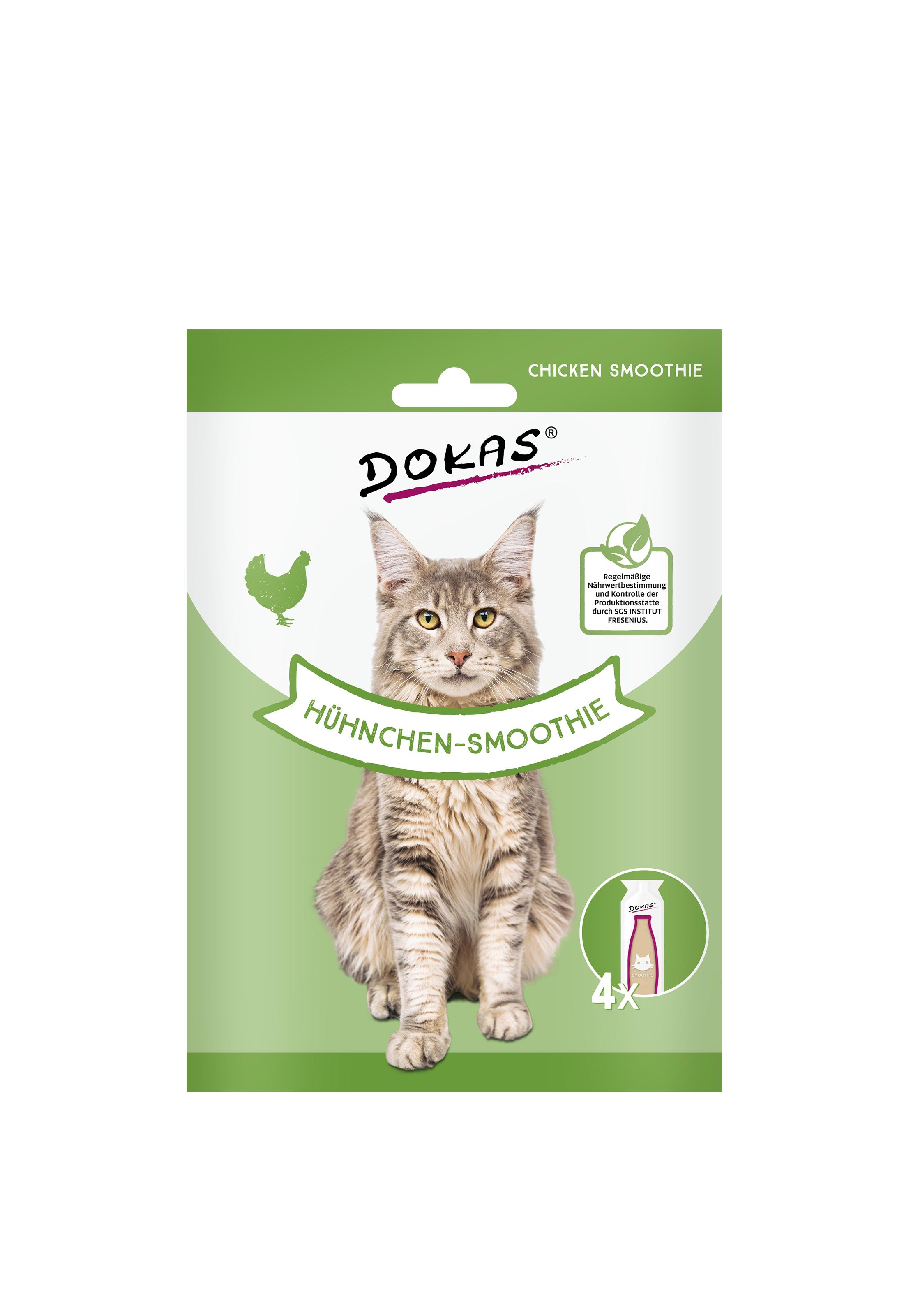 Dokas Cat Snack Hühnchen-Smoothie 4x30ml (  VE 8 je Bestelleinheit )