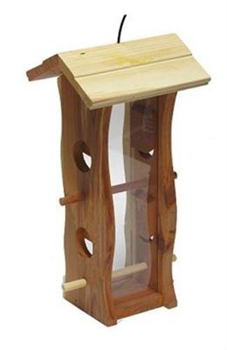 Trixie Futterspender, Zedernholz 12 × 29 × 14 cm, natur