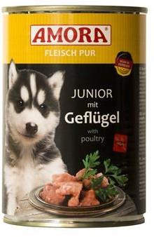 AMORA Dog Fleisch Pur getreidefrei Junior 6x400g