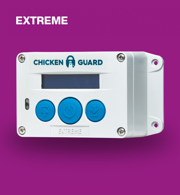 ChickenGuard © Extreme, automatische Steuerung für Hühnerklappen