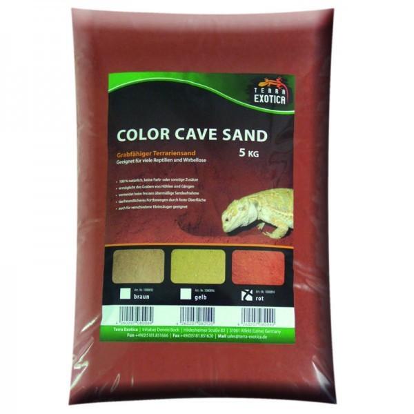 Color Cave Sand - rot 5 kg grabfähiger Höhlensand
