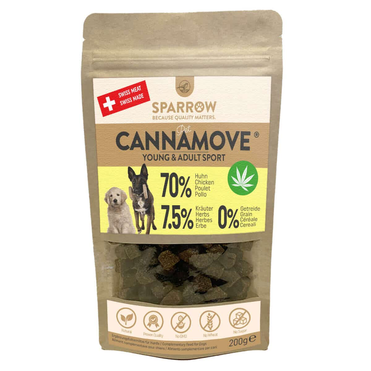 Sparrow Pet CannaMove Snacks Young & Adult Sport 200g