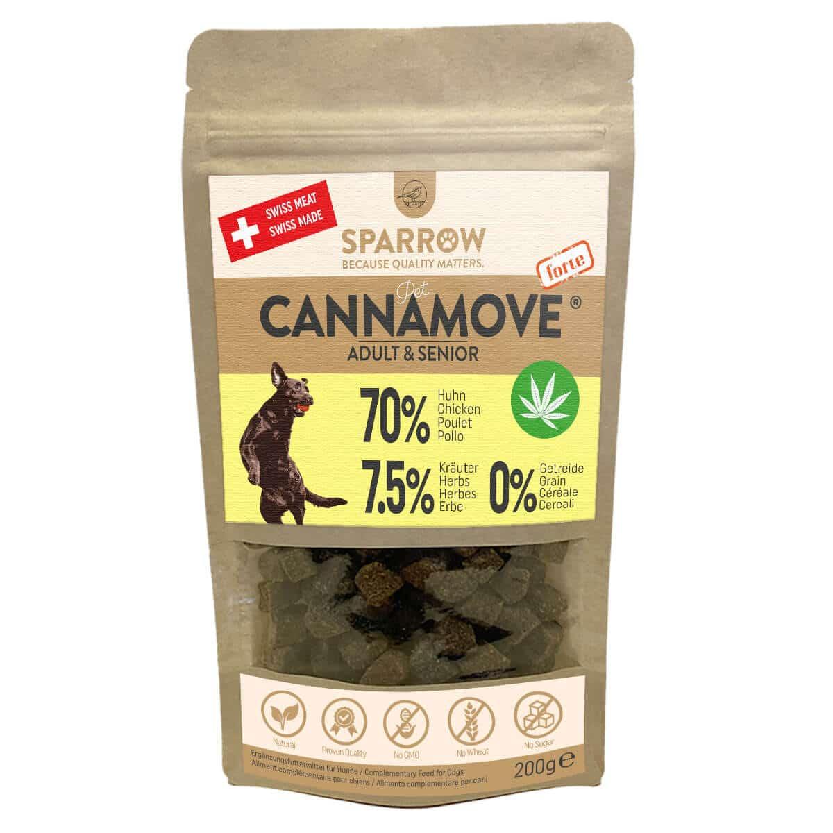 Sparrow Pet CannaMove Forte Snacks, Adult & Senior 200g