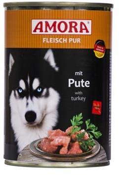 AMORA Dog Fleisch pur getreidefrei Pute 6x400g